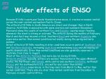 wider effects of enso