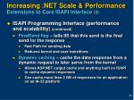 increasing net scale performance extensions to core isapi interface 2