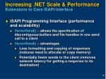 increasing net scale performance extensions to core isapi interface
