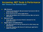 increasing net scale performance idle timeout and demand start