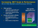increasing net scale performance iis 6 0 web gardens and processor affinity