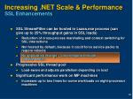 increasing net scale performance ssl enhancements