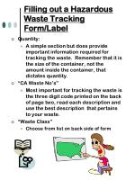 filling out a hazardous waste tracking form label11
