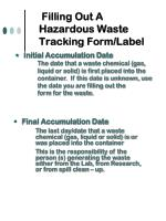 filling out a hazardous waste tracking form label13