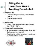 filling out a hazardous waste tracking form label14