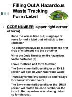 filling out a hazardous waste tracking form label15