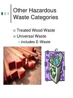 other hazardous waste categories