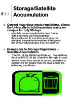 storage satellite accumulation