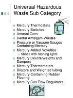 universal hazardous waste sub category