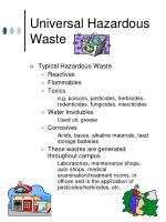 universal hazardous waste
