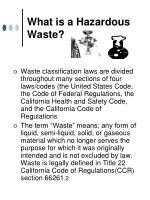 what is a hazardous waste
