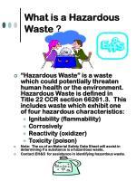 what is a hazardous waste4