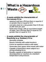 what is a hazardous waste6