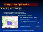 darcy s law application
