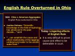 english rule overturned in ohio