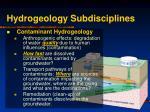 hydrogeology subdisciplines10