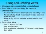 using and defining views