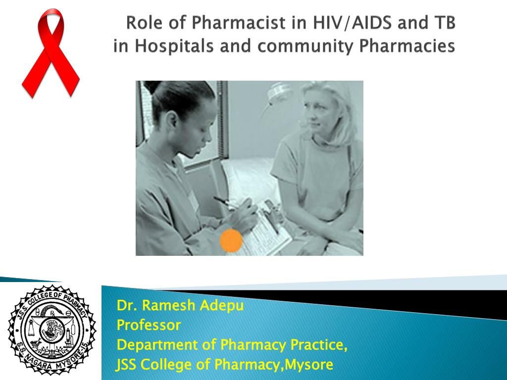 role of pharmacist in hiv aids and tb in hospitals and community pharmacies l.