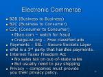 electronic commerce