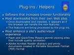 plug ins helpers