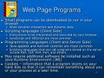 web page programs