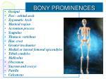 bony prominences