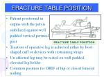 fracture table position