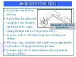 jacknife position