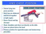 knee chest position