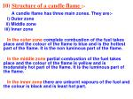 10 structure of a candle flame