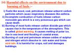 14 harmful effects on the environment due to burning of fuels