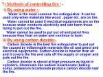 7 methods of controlling fire