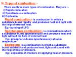 8 types of combustion