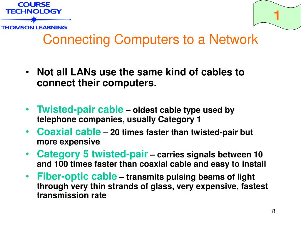 Connecting Computers to a Network