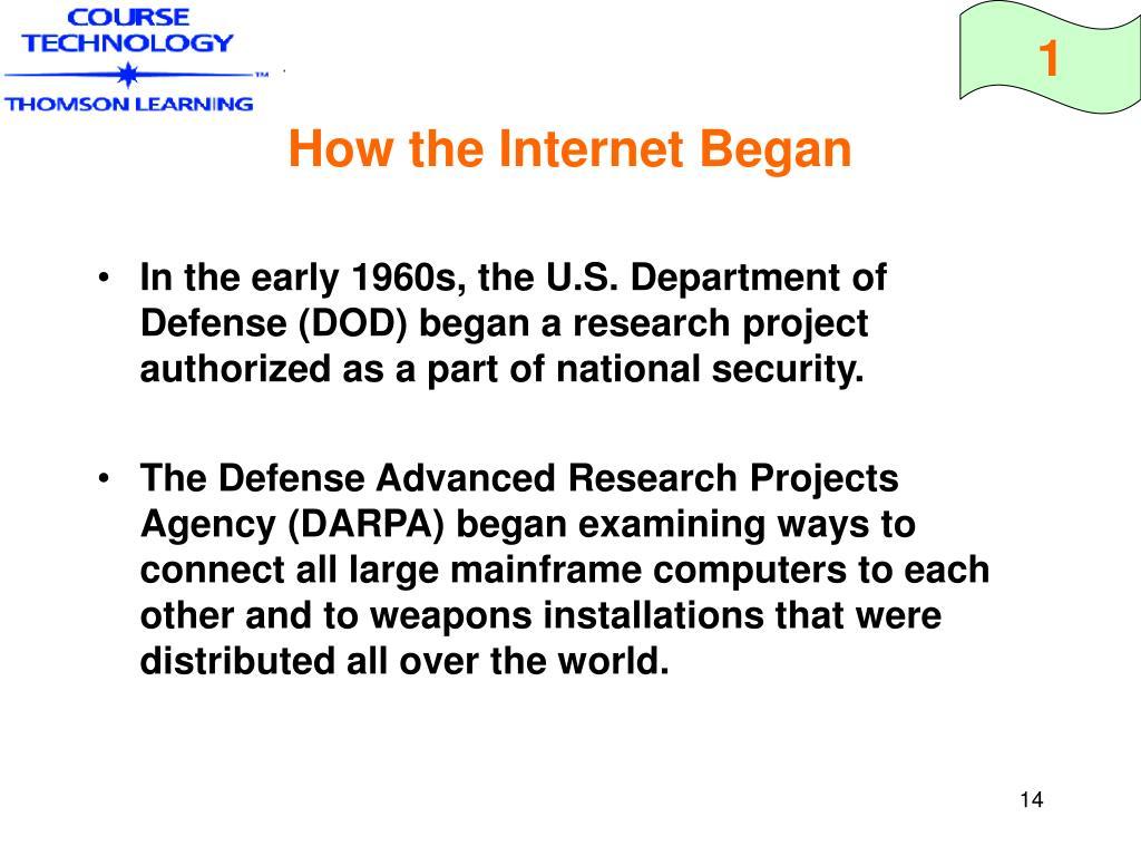 How the Internet Began