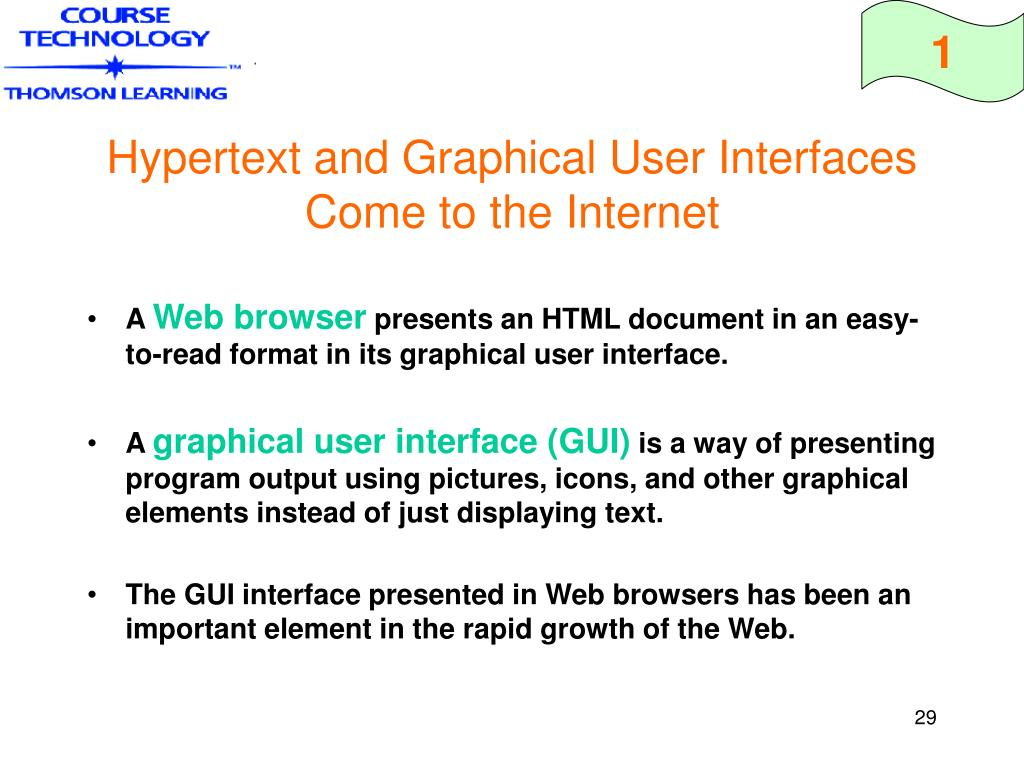 Hypertext and Graphical User Interfaces