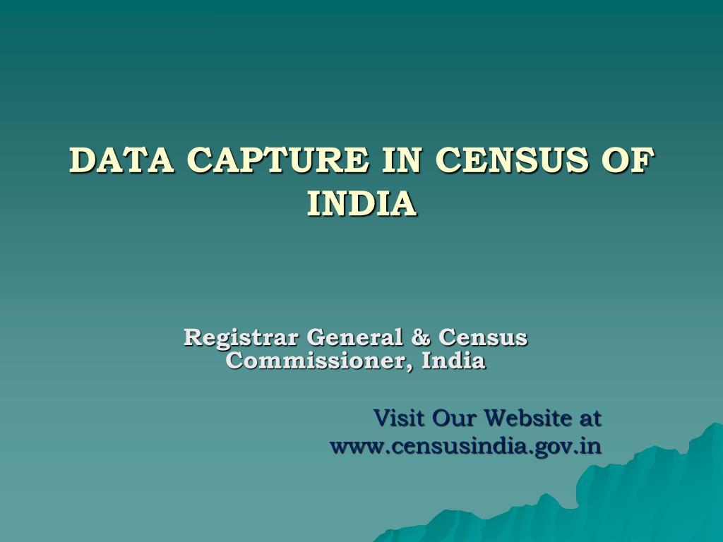 data capture in census of india l.