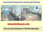 environmental geomechanics laboratory @ iit bombay