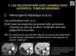 v les calcifications avec lesion s sous jacente s tumeurs benignes52