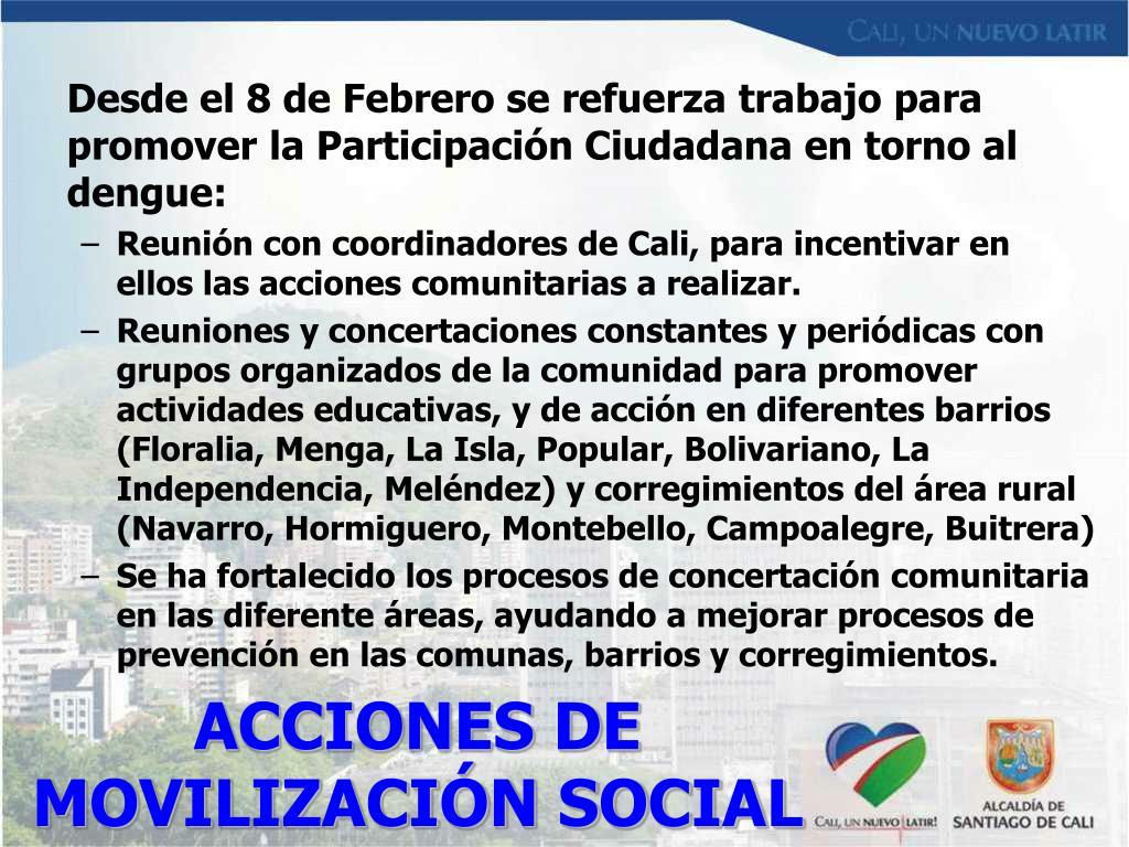 ACCIONES DE MOVILIZACIÓN SOCIAL