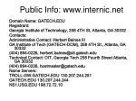 public info www internic net