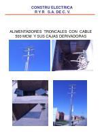 alimentadores troncales con cable 500 mcm y sus cajas derivadoras