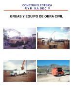 gruas y equipo de obra civil