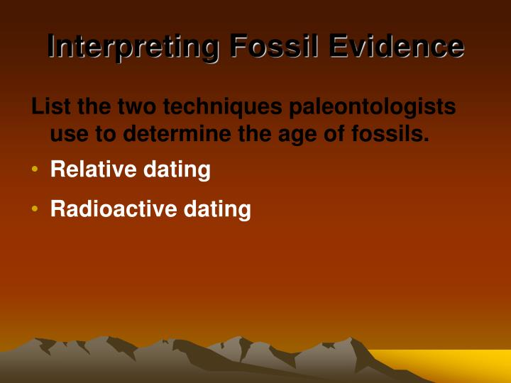 relative dating and radioactive dating