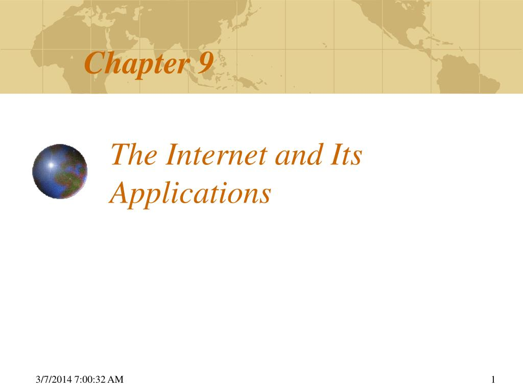 the internet and its applications l.