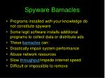spyware barnacles