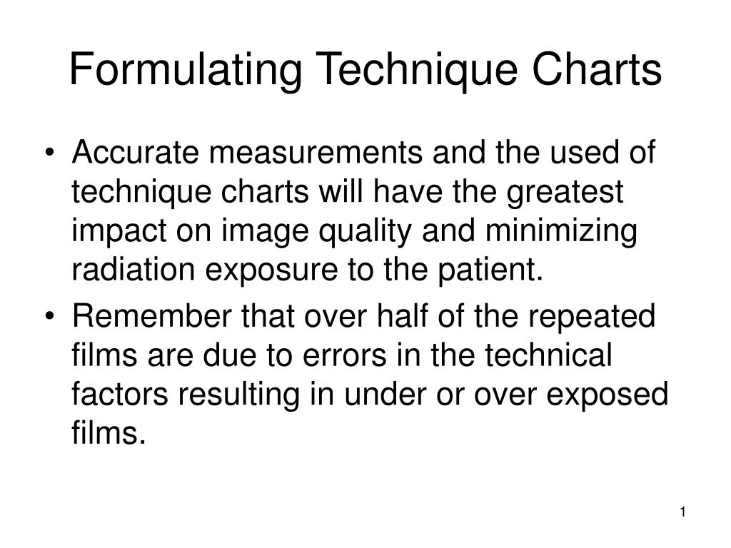 formulating technique charts l.