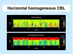 horizontal homogeneous cbl