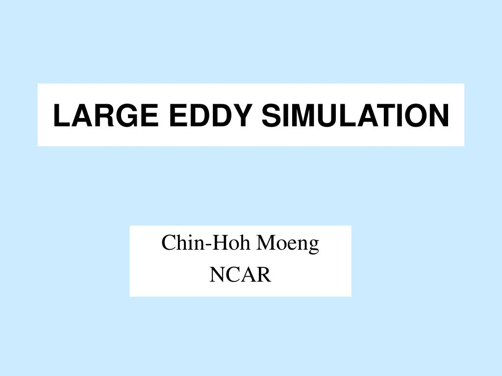 large eddy simulation l.