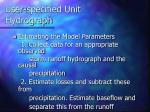 user specified unit hydrograph4